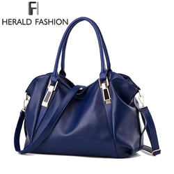 Herald Fashion Designer Women PU Leather Shoulder Bag Purse