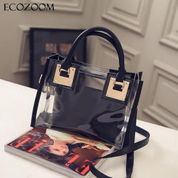 Europe Fashion Women Transparent Handbag Purse