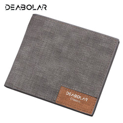 DEABOLAR Brand 2017 Vintage Slim Leather Wallet