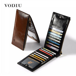 VODIU Men Slim Long Leather Wallet