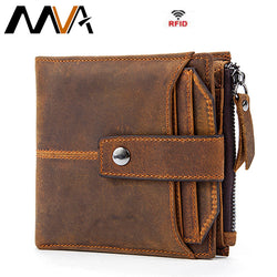 MVA Genuine Leather Vintage Men Wallet