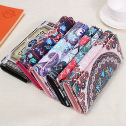 MOJOYCE Women Retro Graffiti Vintage Wallet Purse