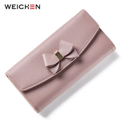 WEICHEN Bow Design Ladies Wallet Purse