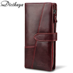 DICIHAYA Genuine Leather Women Clutch Wallet Purse