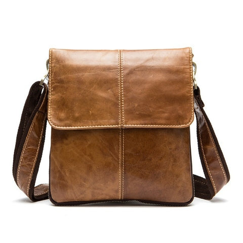 MVA Genuine Leather Small Flap Crossbody Bag Purse