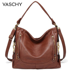 VASCHY Women Fashion Shoulder Bag High Quality Crossbody Purse