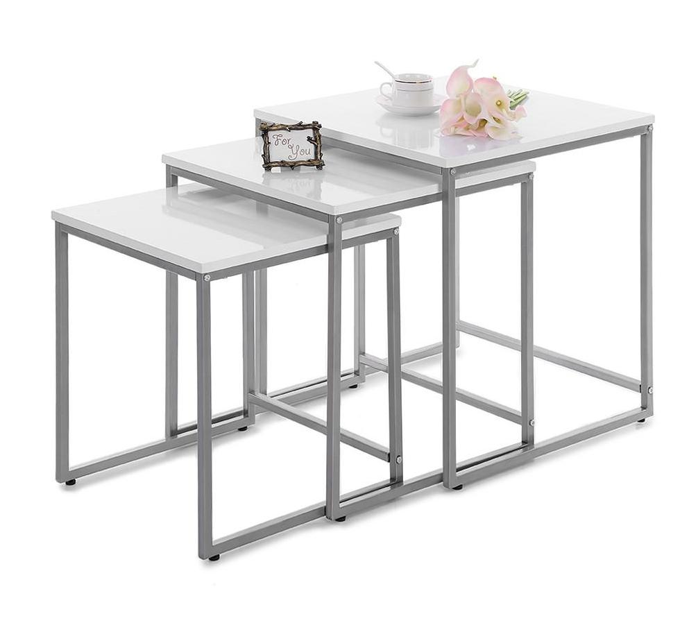 SQUORO 3pc Modern Lux Nesting Tables