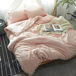 PURIN Knitted Bed Cover 4pcs set