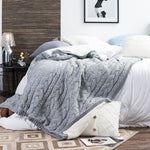 Warm fleece knitted Twist Cable pattern Throw Blanket -130*160cm