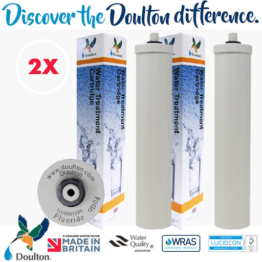 VALUE PACK! 2 PCS- DOULTON FLUORIDE REDUCTION WATER TREATMENT WATER CARTRIDGE