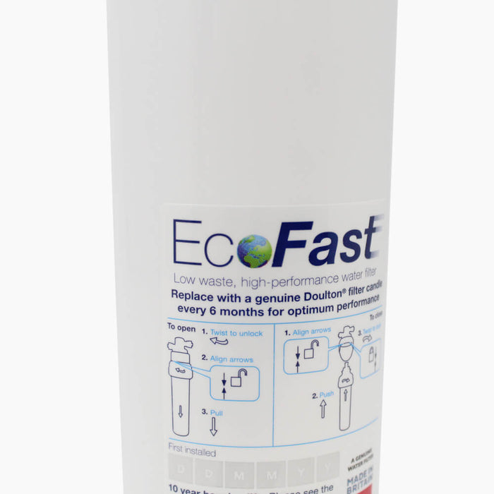 Doulton EcoFast & Ultracarb Naturally, Healthy Drinking Water Filters System complete system with Pillar Tap (In-Counter)