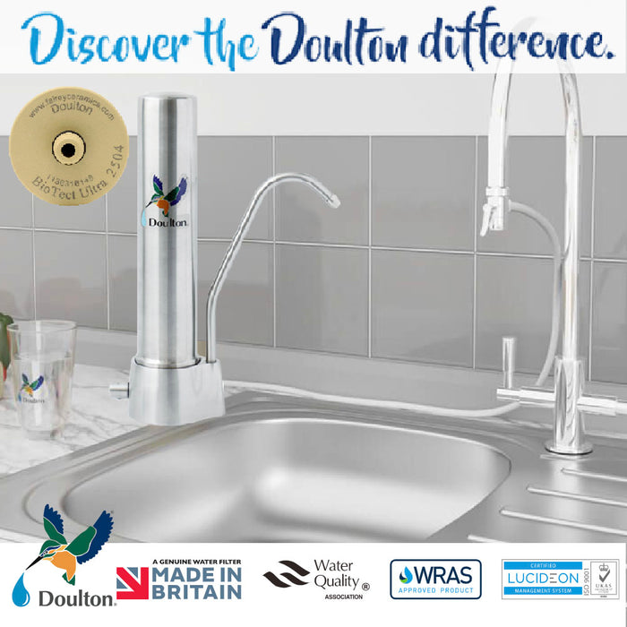 Doulton HQS Biotect Ultra Natural, Healthy, Finest Great Tasting Drinking Water System (On-Counter)