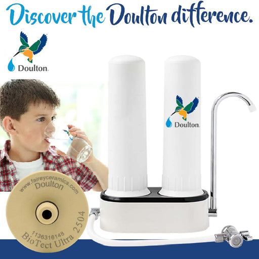 Doulton TCP6 Fluoride Reduction FRC+BTU Natural, Healthy, Finest Great Tasting Drinking Water System