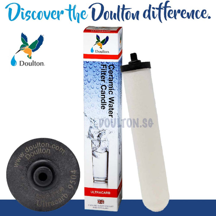 10% OFF - VALUE PACK! DOULTON Ultracarb UCC 9504 + DOULTON FLUORIDE REDUCTION WATER TREATMENT WATER CARTRIDGE