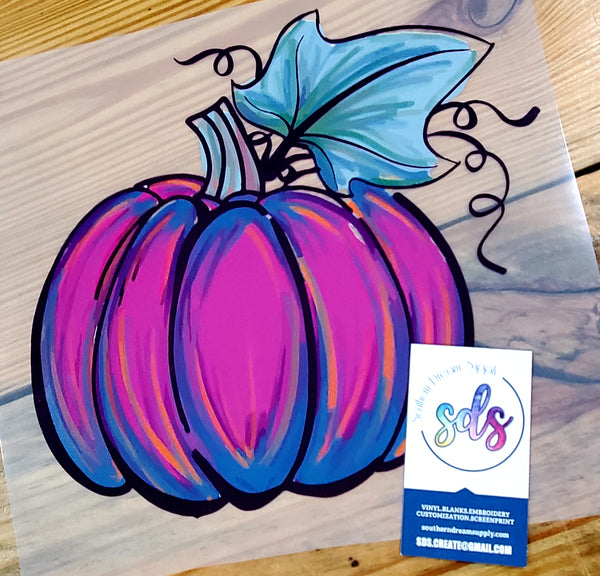 Watercolor Purple Pumpkin