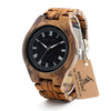 """Dessert Lion"" Wood Watch with Luminous Hands Full Wood Band w Gift Box"