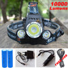 10000Lm LED Headlight /4mode torch +2