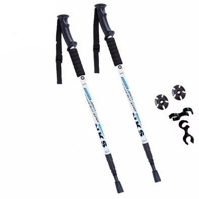 2Pcs/lot Anti Shock Nordic Walking Sticks Telescopic