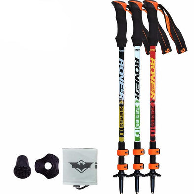 Pioneer REBECA SUPER HIKER! Ultra-light Adjustable Hiking & Trekking Stick/Carbon Fiber