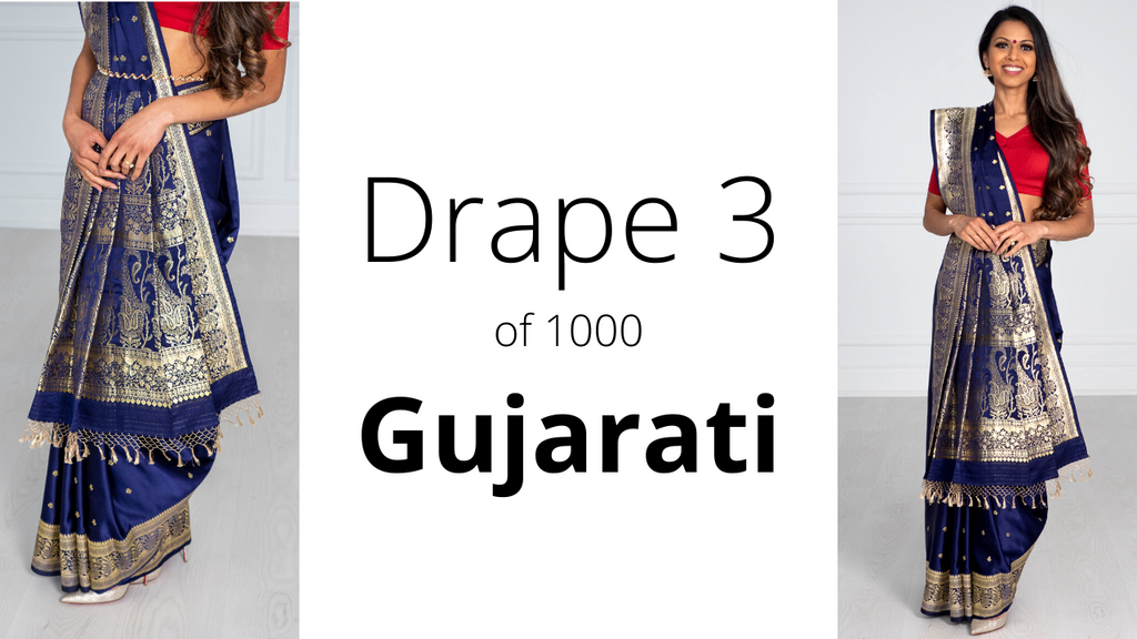 How to Drape a Saree | Gujurati Drape
