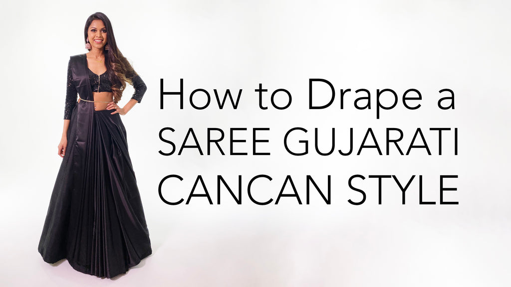 How To Drape A Saree | Gujarati Cancan Style