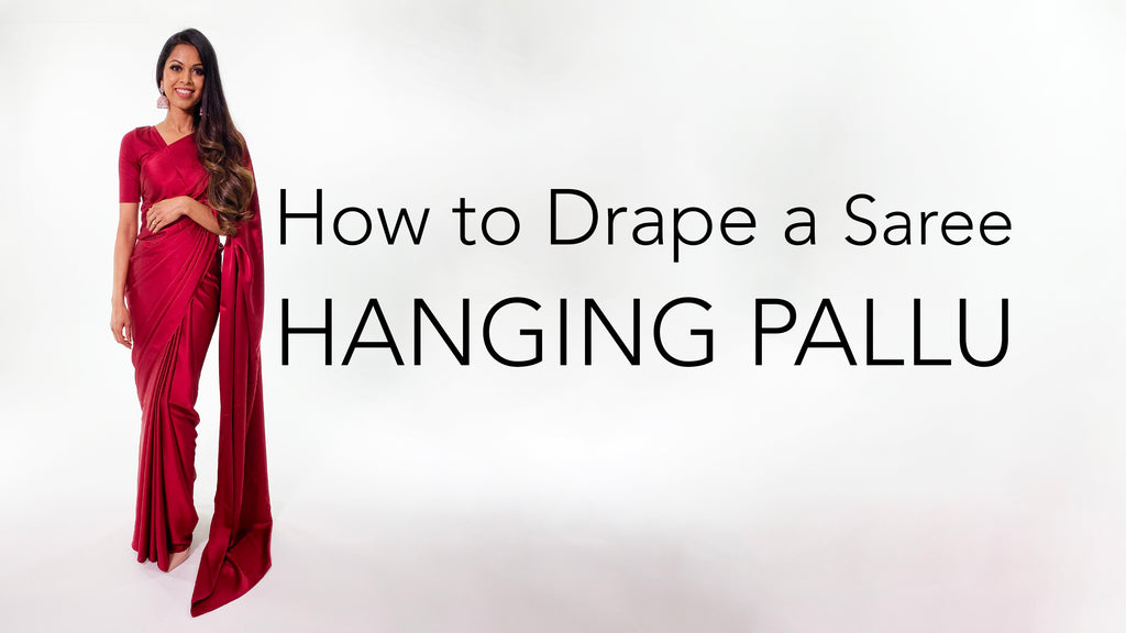 How To Drape A Saree | Hanging Pallu Tutorial