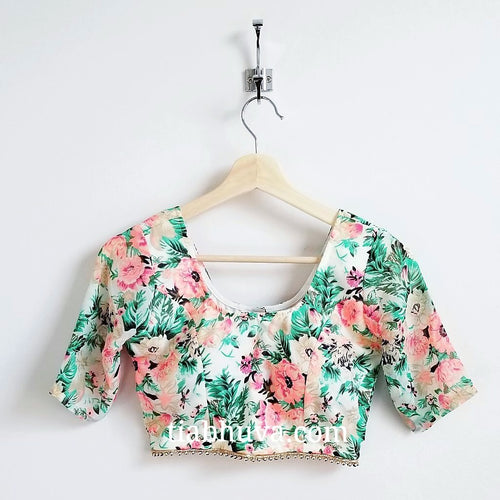 Peach Floral Blouse