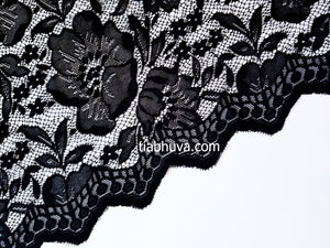 Black Lace Saree