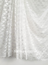 White Lace Saree