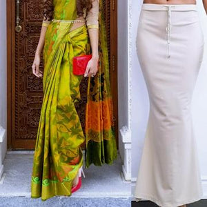 Tall Nude Saree Silhouette worn with a Kanchipuram Saree.