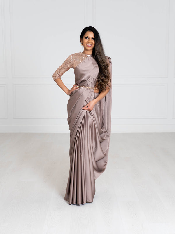 Luxe Saree | Satin Silk Saree |