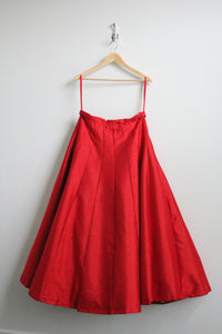 Red Cancan Skirt