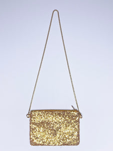 Sequin Clutch + Waist Chain