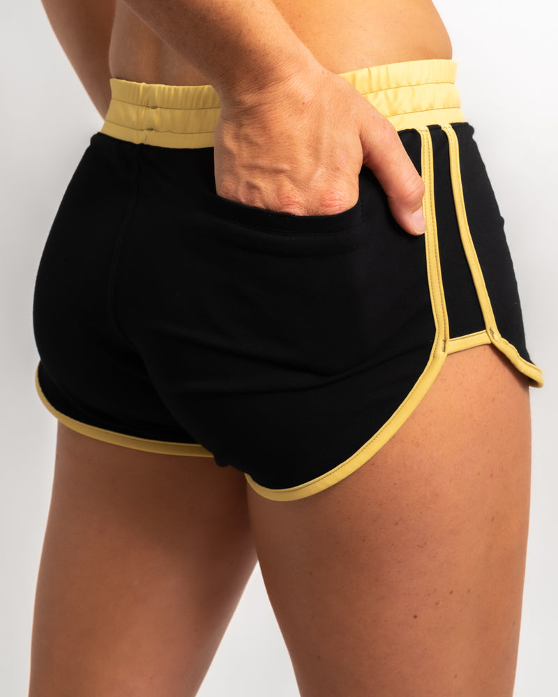 VYB RETRO BLACK SHORTS