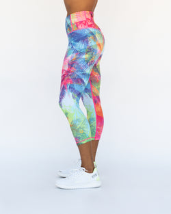 Tropical Punch Crop Leggings