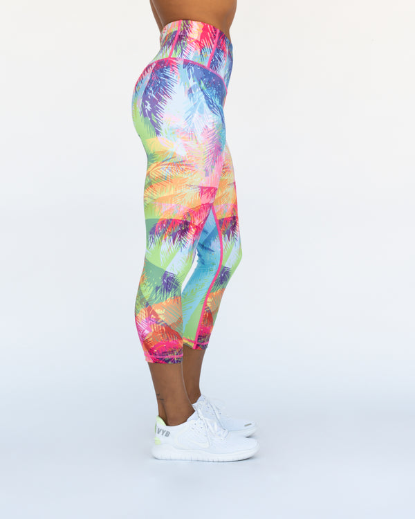 Tropical Punch Leggings 3/4 Length
