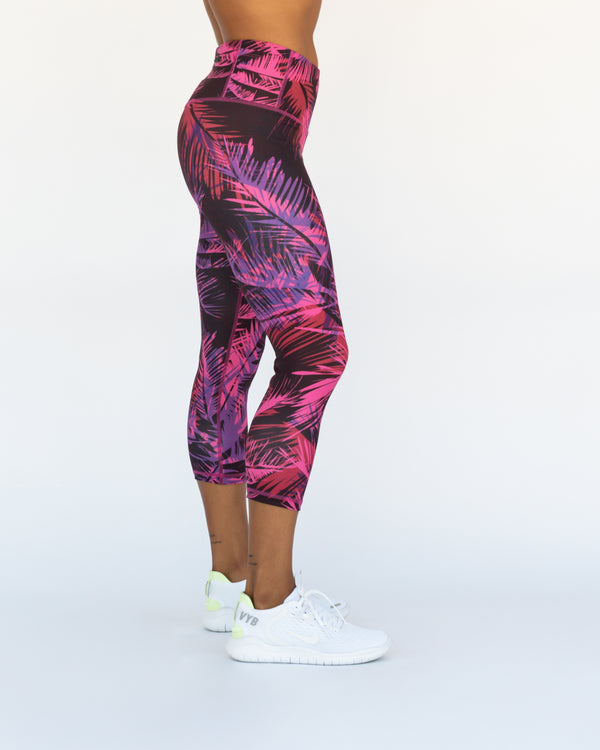 Miami Palms Crop Leggings