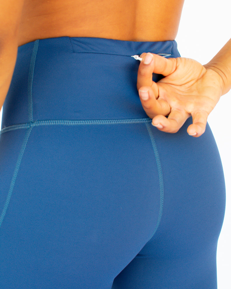 'True Blue' Functional Tights 7/8 Length