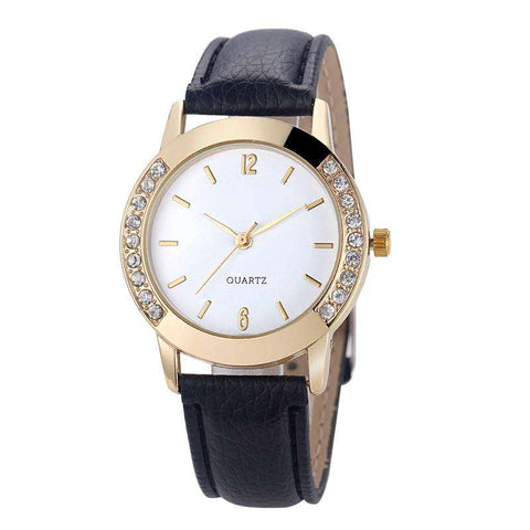 Lady Girl Diamond Analog Leather Band Quartz Wrist  Watches - CoventryMall