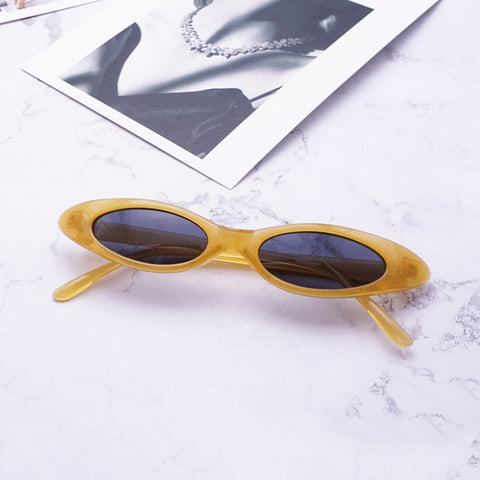 Brand Oval Sunglasses Women Men Cool Glasses Small Size Frame High Quality Eyewear UV400 - Free + Shipping - CoventryMall
