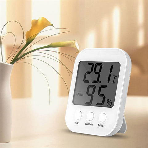Smart Home Digital Indoor Humidity Temperature Monitor Thermometer Hygrometer LCD Screen Display Electronics - CoventryMall