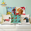 Dachshund Cushion Cover 43X43cm Happy Birthday Sausage dog Pillow Cases Kids Gift Bedroom Sofa Decoration - CoventryMall