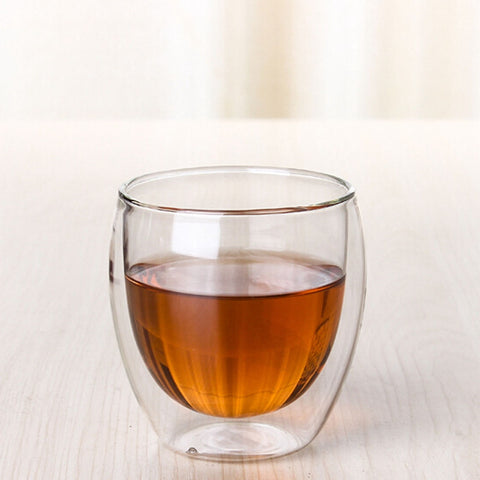 Clear Double Wall Glass Double Glass Coffee Tea Cups Glassware Heat Resistant Milk Beer Soup Mugs And Insulated Wine Cups - Free + Shipping - CoventryMall