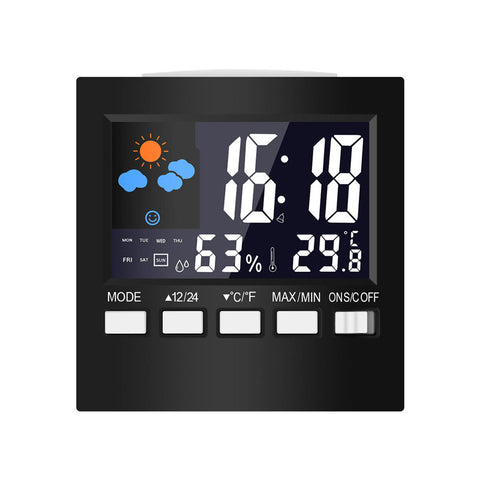 Smart Home Digital Temperature Humidity Alarm Clocks LCD - Electronics Weather Station Display Calendar Timer - CoventryMall