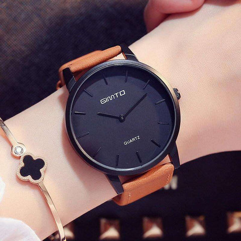 Luxury Woman Watch Minimalism Leather - CoventryMall
