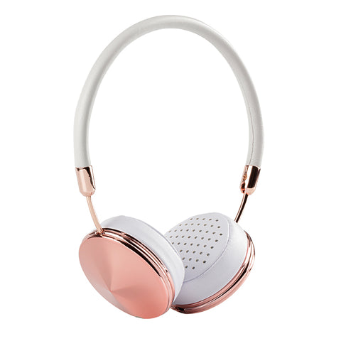 Liboer Headband Wired Rose Gold Headphones for Girls with Mic On-Ear Headset Foldable Headphones Cool - CoventryMall