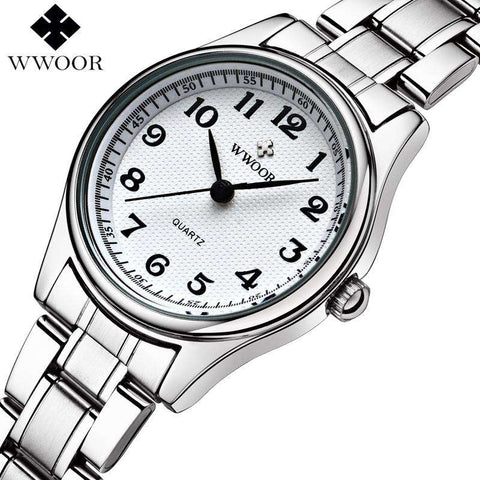 Montre Femme Woman Brand Luxury Stainless Steel Quartz Watch Women Watches - CoventryMall