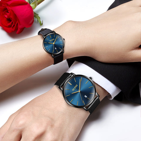 Couple watches Luxury top brand waterproof Ultrathin OLEVS