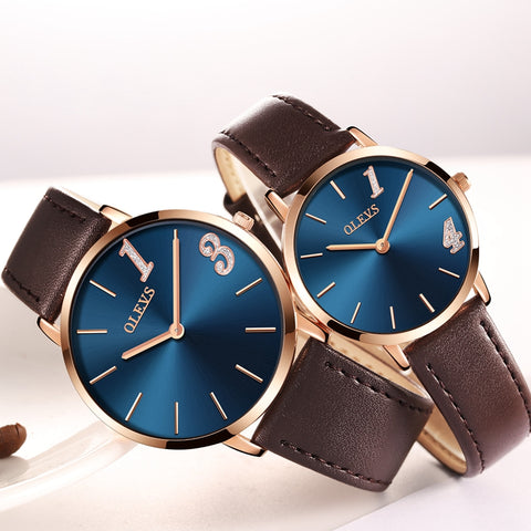 Ultrathin Design  Waterproof Lovers Quartz Women & Men