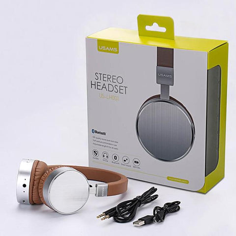 Original USAMS bluetooth headset Stereo Heavy Bass Microphone  wireless headphones for computer phones music - CoventryMall